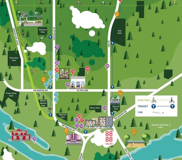8888 Osler vancouver neighbourhood map