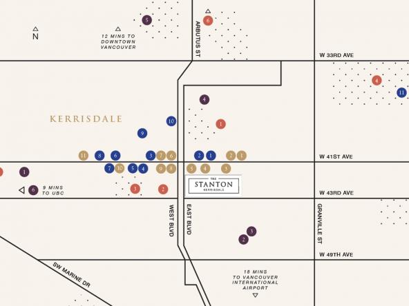 The Stanton Neighbourhood Map