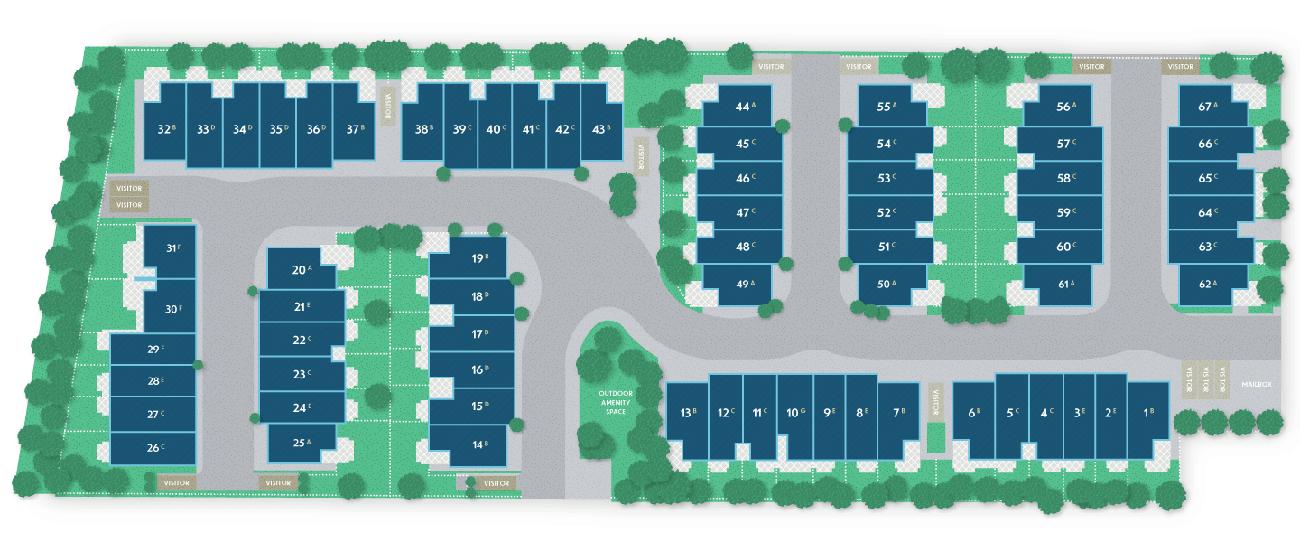 ewen townhomes new west sitemap