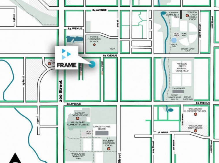 frame townhomes langley LocationMap
