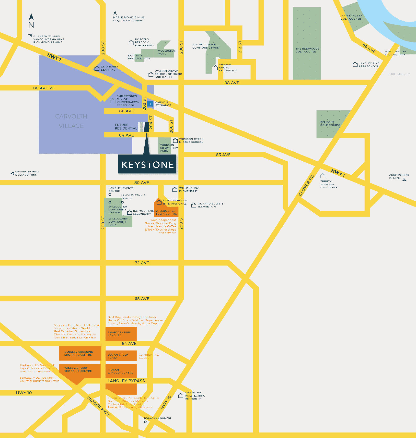 keystone townhome langley neighbourhood map