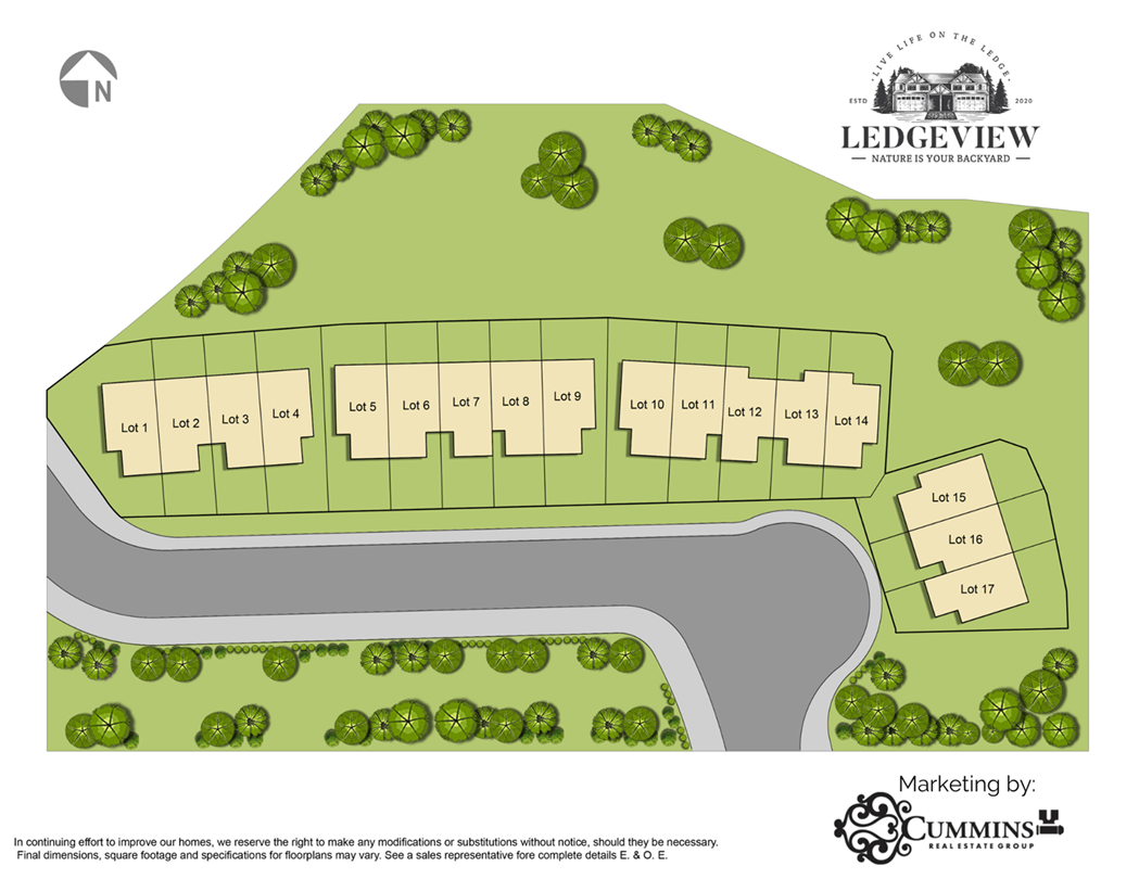 Ledgeview Rowhome Sitemap