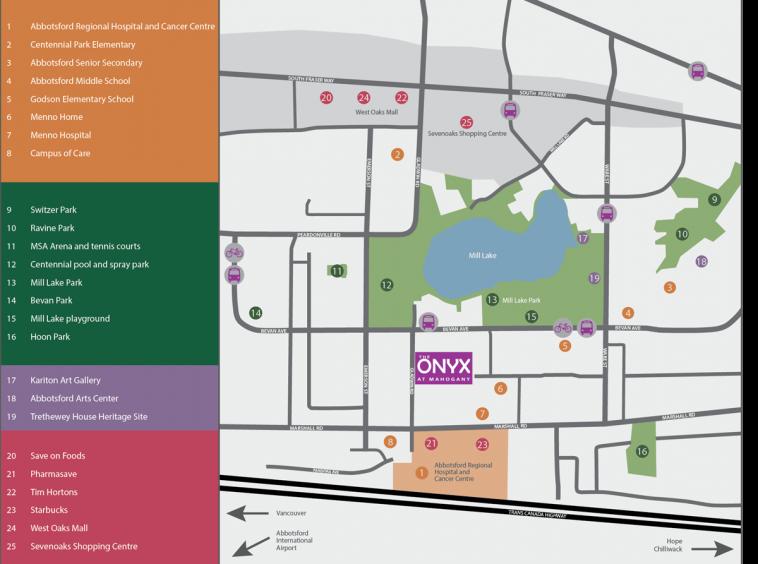 onyx abbotsford neighbourhood map