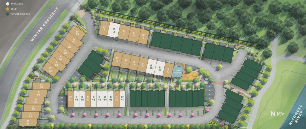 river pine townhomes south surrey siteplan 1024x432 1
