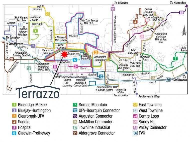 terrazzo condos abbotsford transit map