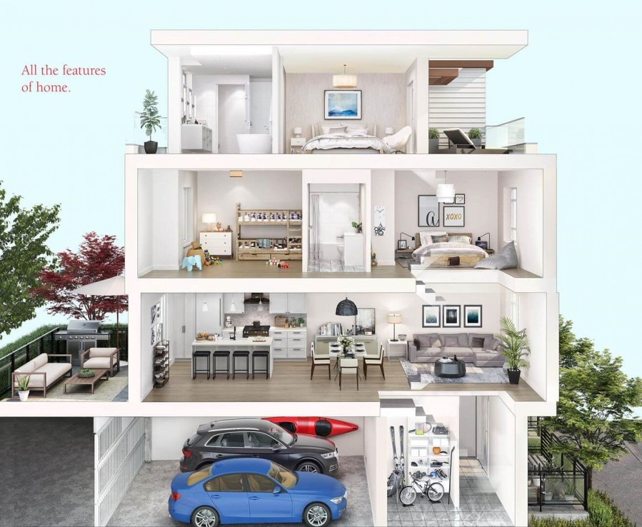 the trails north van townhomes 5 1