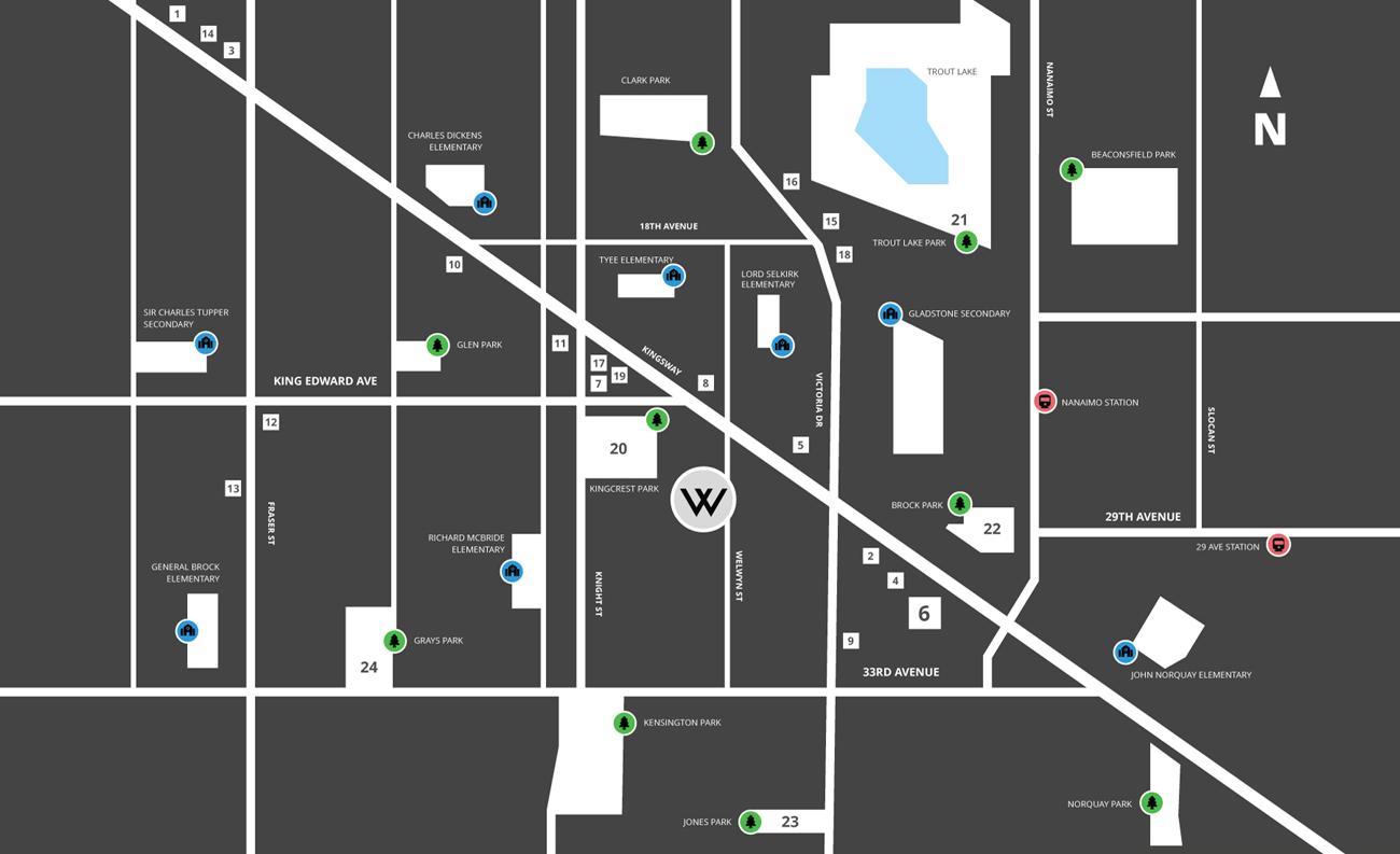the welwyn vancouver homes neighbourhood map