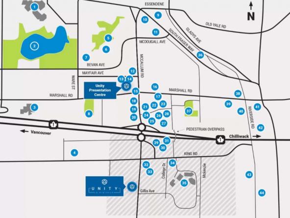 unity townhomes abbotsford neighbourhood map