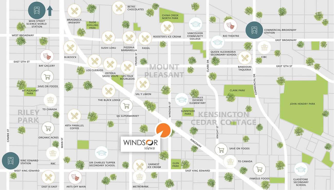 windsor views vancouver neighbourhood map